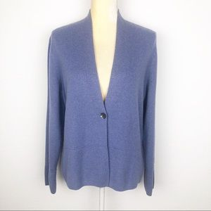 Charter Club Blue 100% Cashmere Cardigan Sweater